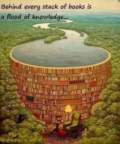 Behind every stack of books is a flood of knowledge