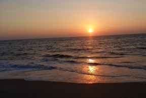 sunset-at-cherai-beach